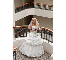 Bride in gallery Photographic Print