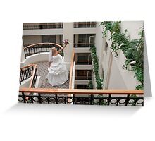 Bride in gallery Greeting Card