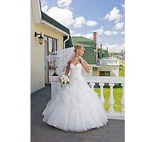 Bride On The Balcony Photographic Print