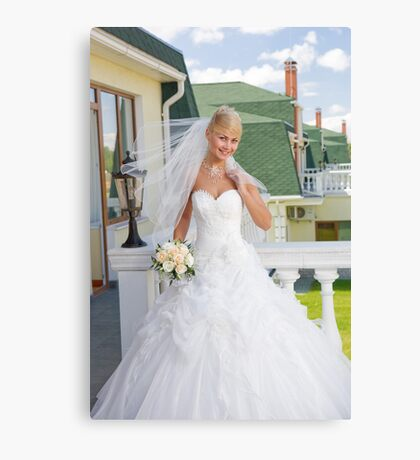 Bride On The Balcony Canvas Print