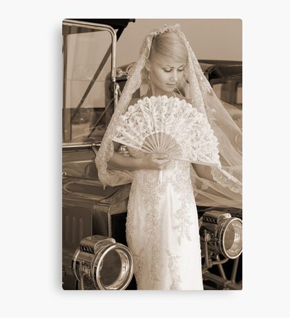 Bride With Fan Canvas Print