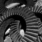 Steam Engine Gears, Felton, California by John Littell