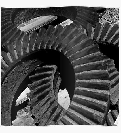 Steam Engine Gears, Felton, California Poster