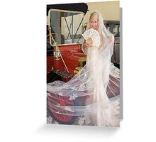 Bride And Antique Car Greeting Card