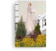 Bride In The Garden Canvas Print