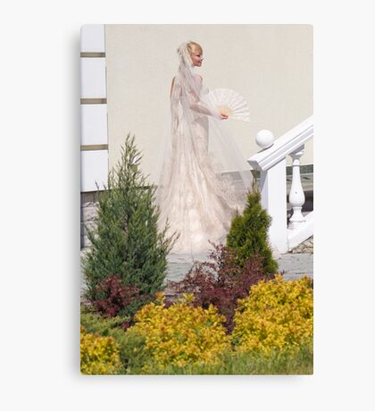 Bride In The Garden Canvas Print