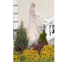 Bride In The Garden Photographic Print