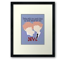 Twins with too much time on their hands Framed Print