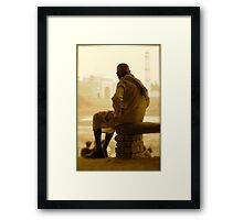 Contemplating the Taj Framed Print