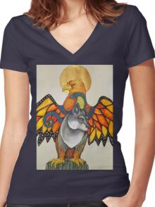 Karen's Totem Tee Women's Fitted V-Neck T-Shirt