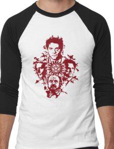 Supernatural Portraits in blood Men's Baseball ¾ T-Shirt