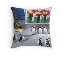 A Chilly Willy Christmas....... Throw Pillow