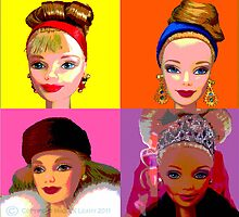 Barbie limited editions in Warhol style by Mike Leahy