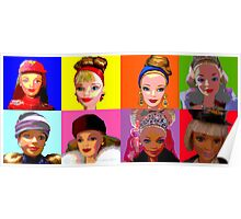 Barbie limited editions in Warhol style Poster