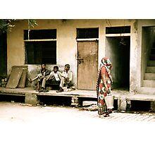 Three Men and a Sari Photographic Print