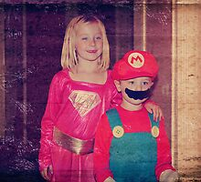 Mario and Super Girl by Laurie Search
