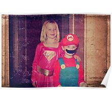 Mario and Super Girl Poster