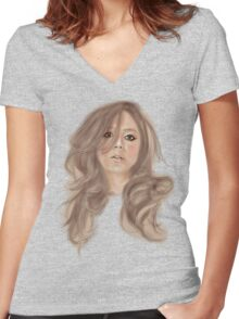Original Lady Women's Fitted V-Neck T-Shirt