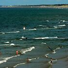 what summer- waves~~ on beach by LisaBeth