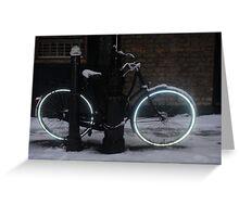 Tron Bike - Spitalfields, East London Greeting Card