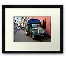 Streets Of Havana Framed Print