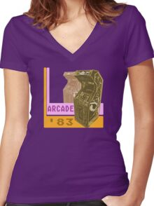 Arcade '83 Women's Fitted V-Neck T-Shirt