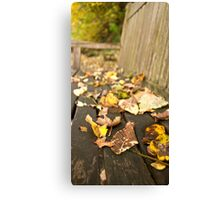 Even Leaves Know When to Rest Canvas Print