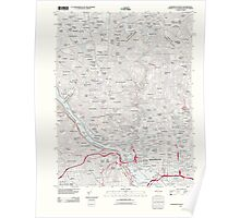 USGS Topo Map District of Columbia DC Washington West 20110711 TM Poster