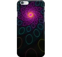 Spiral Circles Funky Retro Abstract Fractal  iPhone Case/Skin
