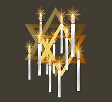 Nine White Candles and Star Womens Fitted T-Shirt