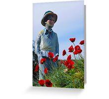 Poppy Hill Boy By Jonathan Green Greeting Card
