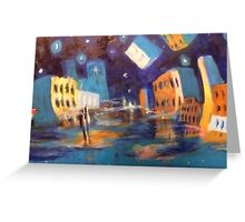 la ville la nuit Greeting Card
