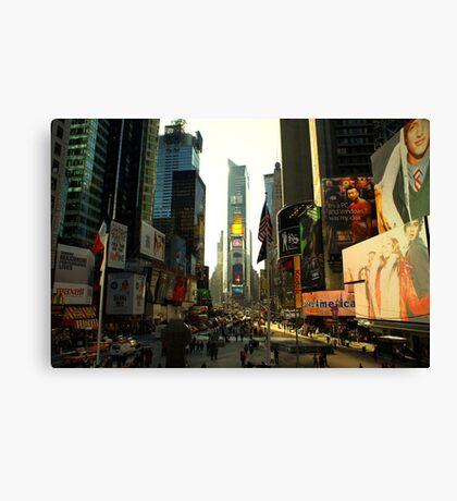 Sunny Times Square Canvas Print