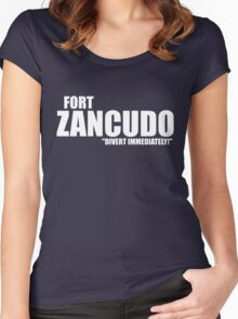 "Fort Zancudo ""Divert Immediately!"" Women's Fitted Scoop T-Shirt"