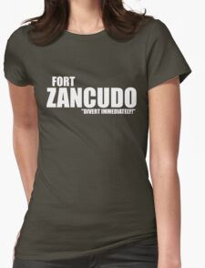 "Fort Zancudo ""Divert Immediately!"" Womens Fitted T-Shirt"