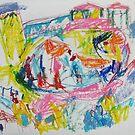 three birds in water hole by Shylie Edwards