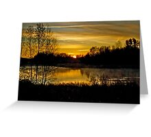 Sunrise over the Pond - AB Canada Greeting Card