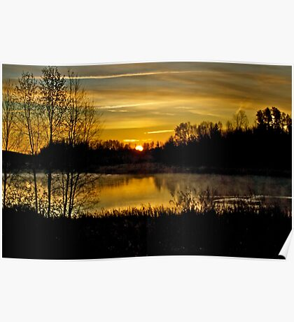 Sunrise over the Pond - AB Canada Poster