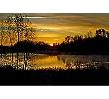 Sunrise over the Pond - AB Canada Photographic Print
