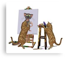 Artists at Work .. March Cats Canvas Print