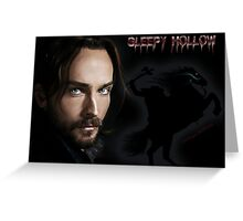 Ichabod and The headless horseman Greeting Card