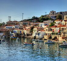 Chalki Harbour Panorama by Tom Gomez