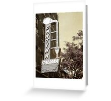 Cantina Italiana North End Boston Greeting Card
