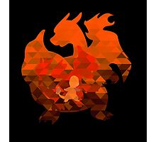 Charmander - Charmeleon - Charizard - Polygon Photographic Print
