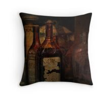 Bottles of Old  Throw Pillow