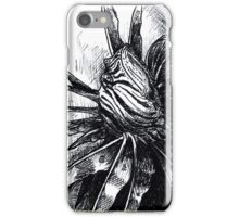 Lion Fish Drawing iPhone Case/Skin