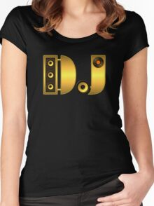 DJ gold Women's Fitted Scoop T-Shirt