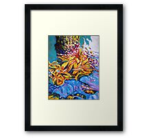 Water Diamonds Framed Print