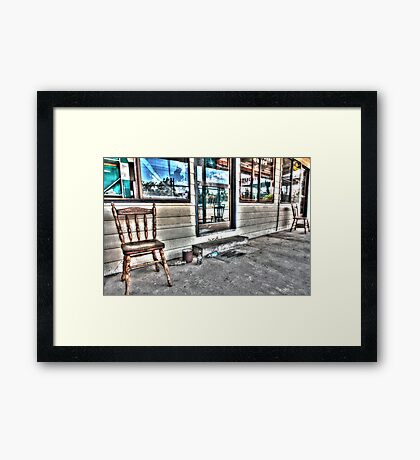 Two chairs. Framed Print