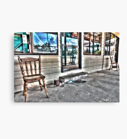 Two chairs. Canvas Print